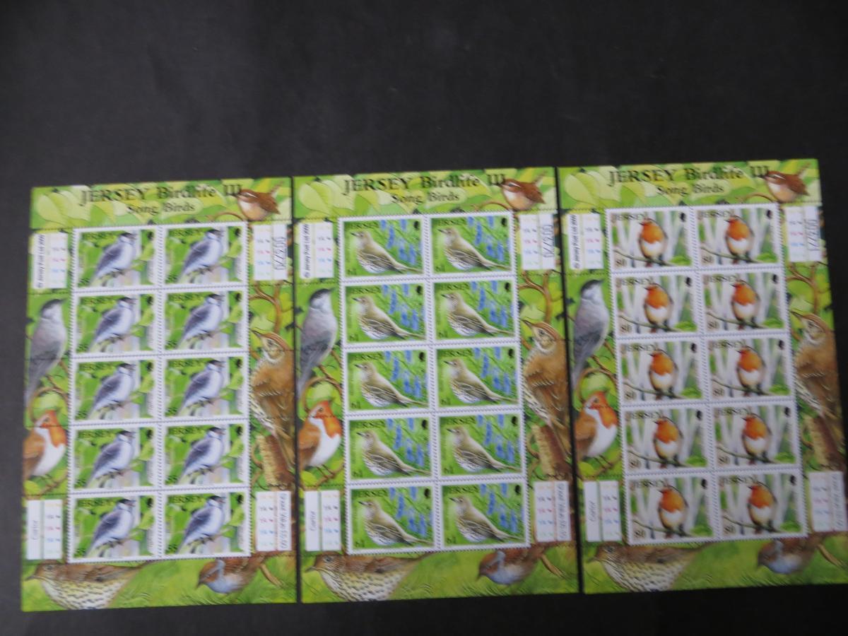 Großbritannien Jersey Kleinbogensatz 1426-31 Singvögel Luxus postfrisch MNH 2009 1