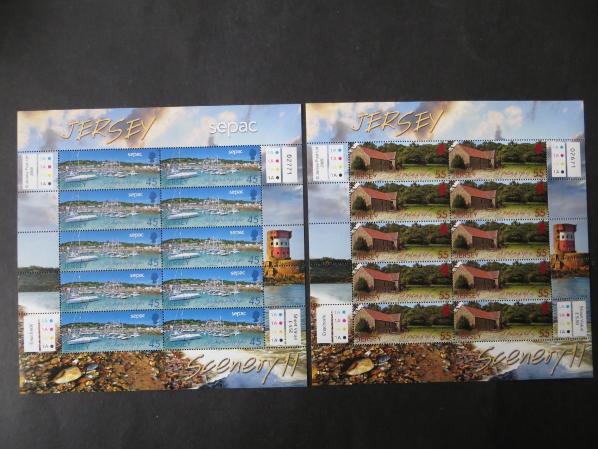 Großbritannien Jersey Kleinbogensatz 1435-40 Landschaften SEAPC Luxus postfrisch 1