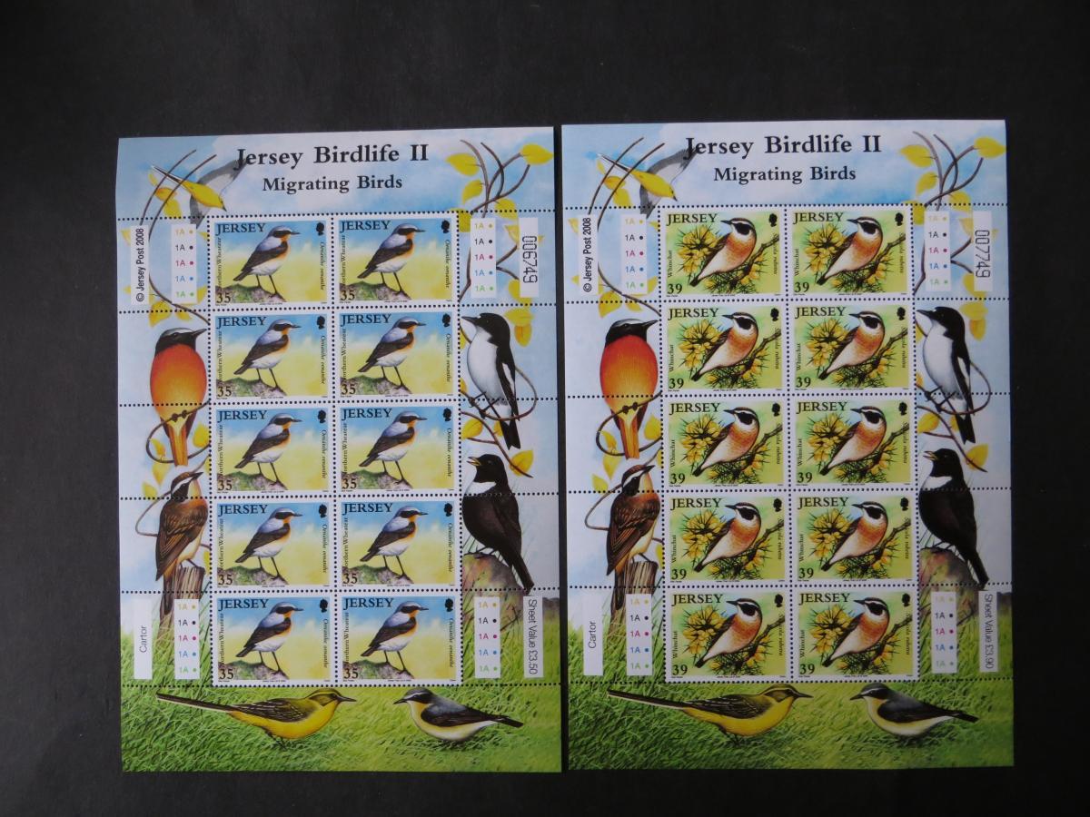 Großbritannien Jersey Kleinbogensatz 1377-82 Tiere Zugvögel Luxus postfrisch MNH 0