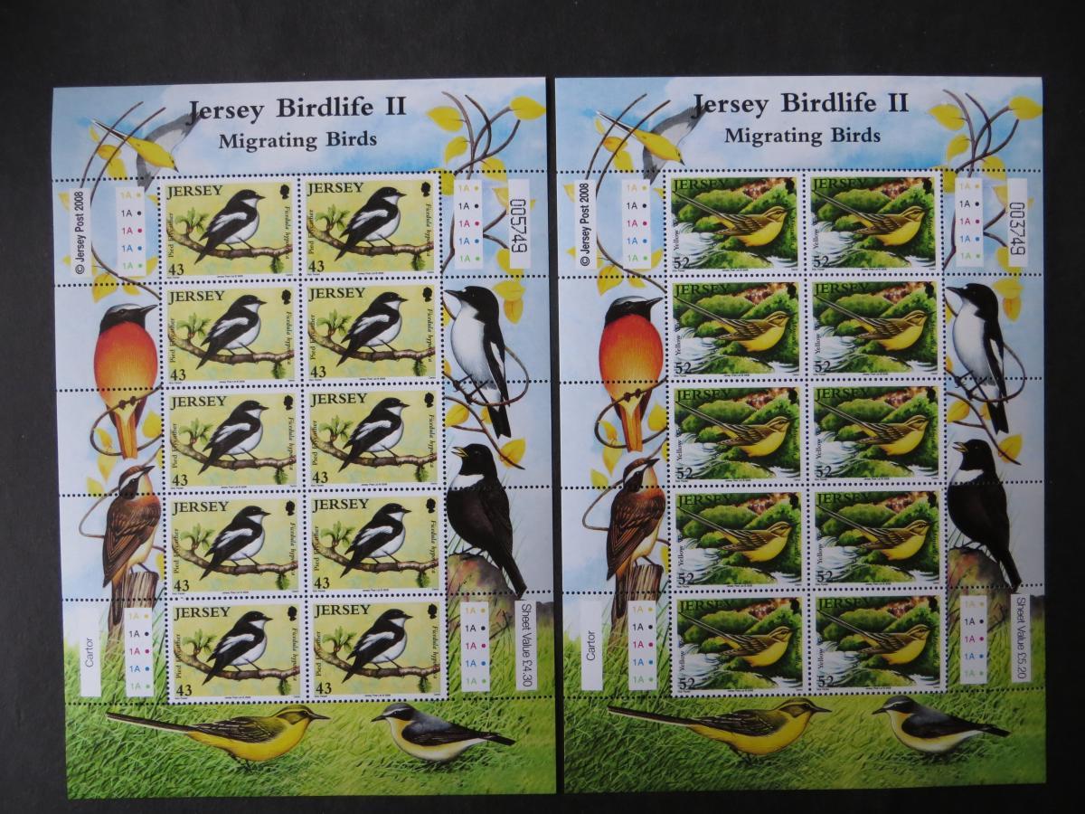 Großbritannien Jersey Kleinbogensatz 1377-82 Tiere Zugvögel Luxus postfrisch MNH 1