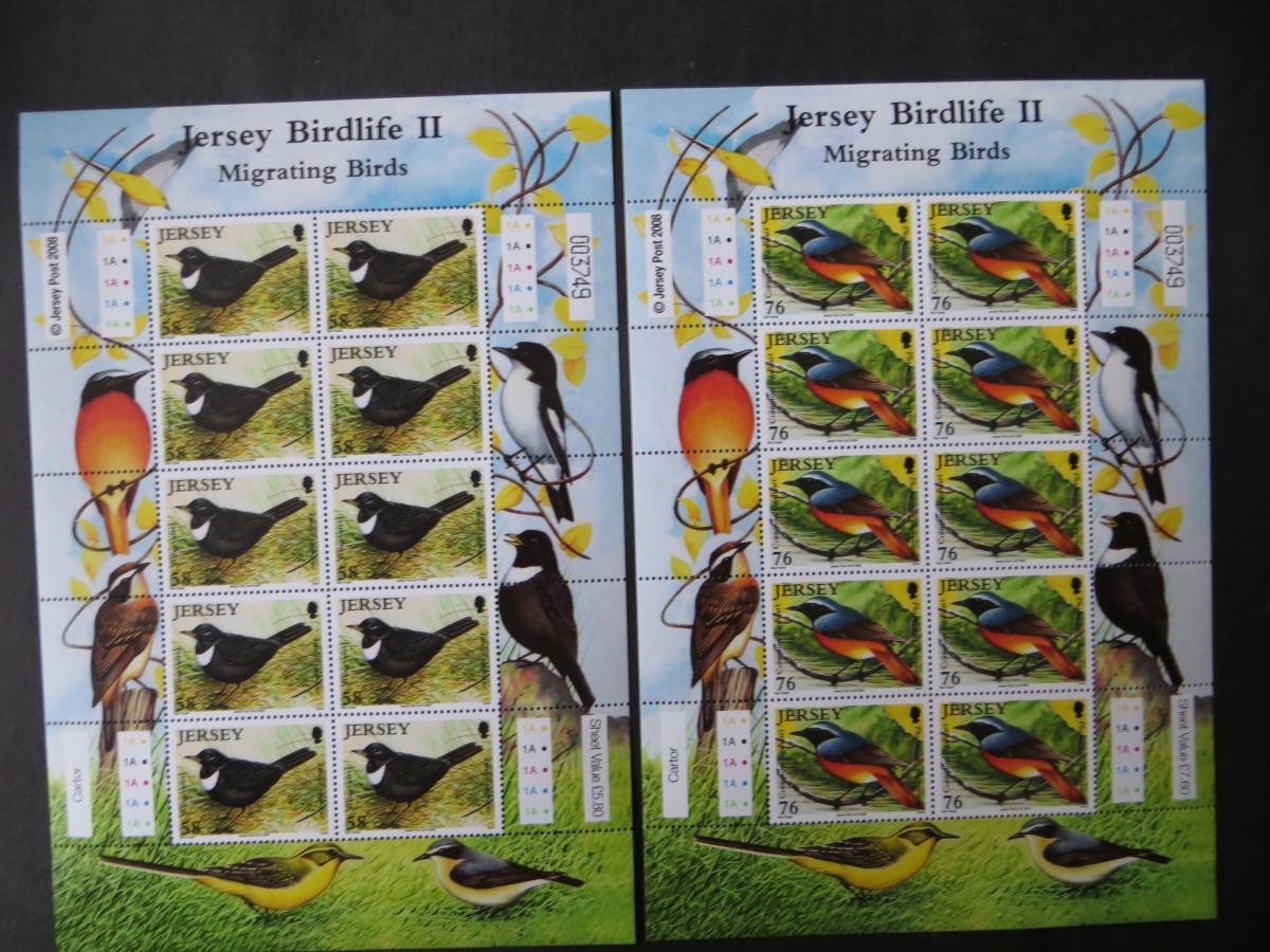 Großbritannien Jersey Kleinbogensatz 1377-82 Tiere Zugvögel Luxus postfrisch MNH 2