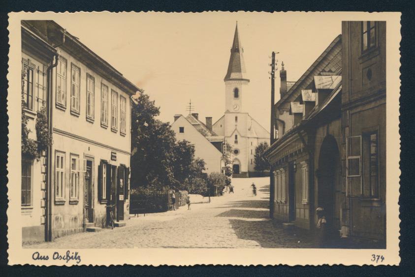 Ansichtskarte Oschitz Sudetenland ungelaufen 0