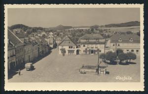 Ansichtskarte Oschitz Sudetenland nach Vegesack Bremen 1938