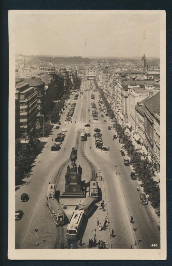 Ansichtskarte Prag Straßenbahn Tschechien nach Bremen  0