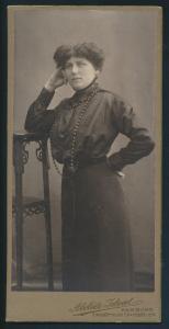 Original alte Fotoplatte Atelier Ideal Hamburg Elmsbütteler Chausse 10 a um 1890