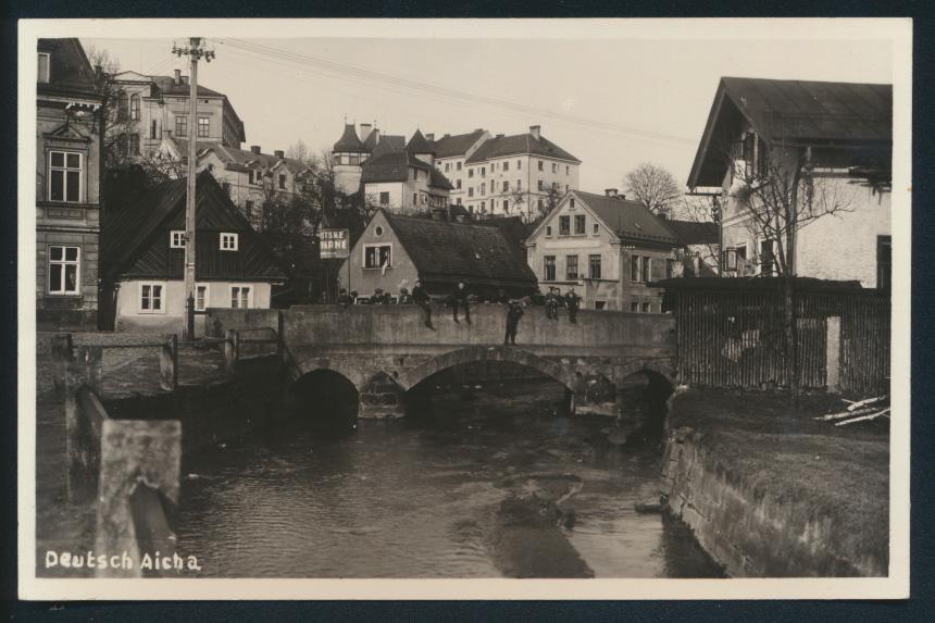 Ansichtskarte Deutsch Aicha Český Dub Sudeten Tschechien 0