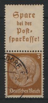 Deutsches Reich Zusammendruck S 175 Hindenburg gestempelt Kat.-Wert 3,20 0