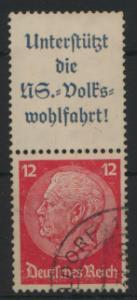 Deutsches Reich Zusammendruck S 155 Hindenburg gestempelt Kat.-Wert 5,00