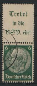 Deutsches Reich Zusammendruck S 191 Hindenburg gestempelt Kat.-Wert 3,00