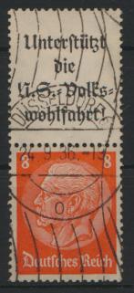 Deutsches Reich Zusammendruck S 131 Hindenburg gestempelt Kat.-Wert 6,00 0
