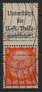 Deutsches Reich Zusammendruck S 131 Hindenburg gestempelt Kat.-Wert 6,00