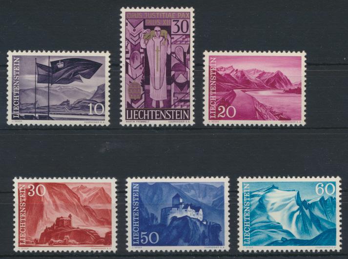 Liechtenstein 381-385 Luxus postfrisch MNH Kat.-Wert 4,00 0