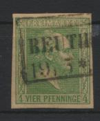 Altdeutschland Preussen 9 a R2 Beuthen Kat.-Wert 45,00