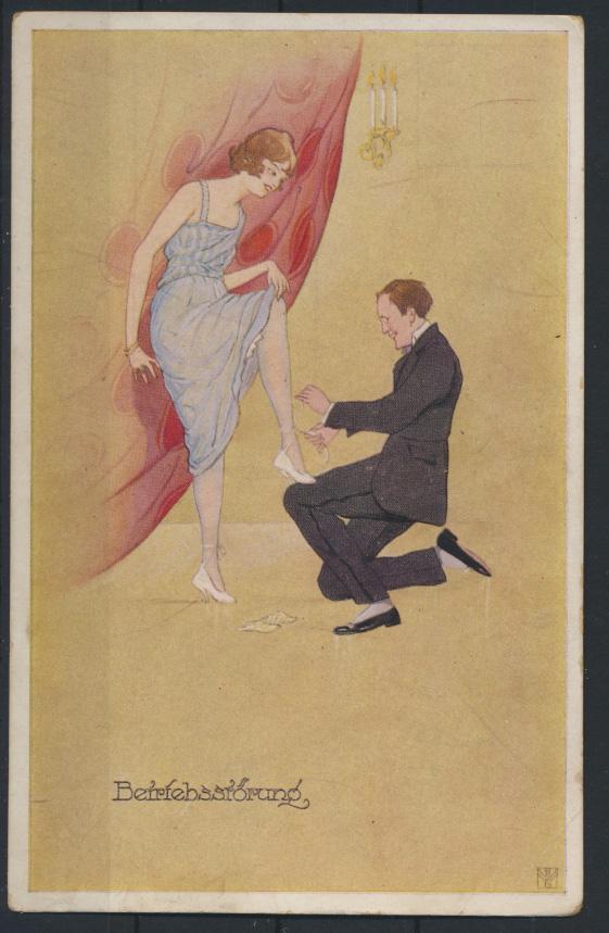 Ansichtskarte Jugendstil Art Nouveau Damen Frauen Mode Erotik Künstler sign.  0