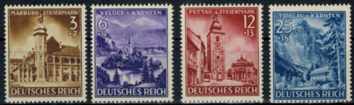 Deutsches Reich 806-809 Eingliederung Steiermark Originalgummi mit Falz Kat.4,50 0