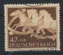 Deutsches Reich 815 Tiere Pferde Braunes Band sauber gestempelt Kat.-Wert 7,00