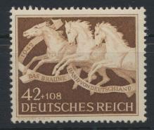 Deutsches Reich 815 Tiere Pferde Braunes Band Luxus postfrisch Kat.-Wert 10,00