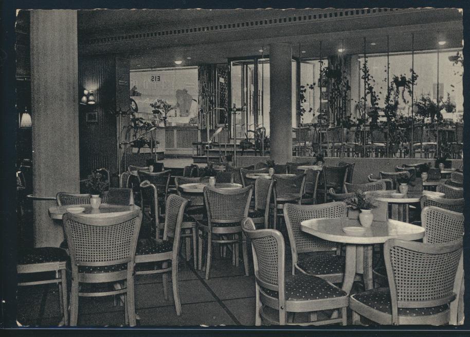 Ansichtskarte Bremen Konditorei Cafe Jansen Bahnhofstr.32 Innenansicht 22.4.1959 0