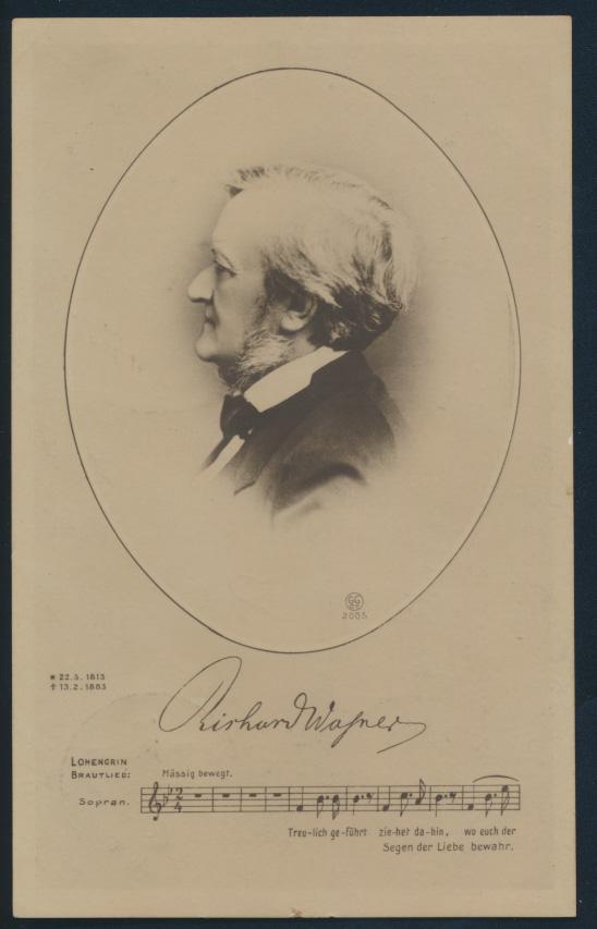 Ansichtskarte Richard Wagner Komponist Musik Künstler  0