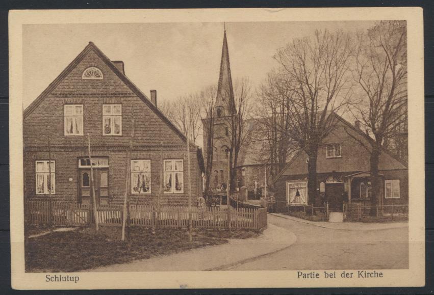 Ansichtskarte Schlutup Kirche Schleswig Holstein Verlag Zunk Lübeck 0