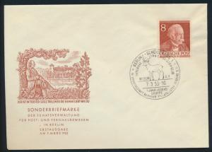 Berlin Brief 94 8 Pfg. Männer der Geschichte Fontame Dichter FDC Kat.-Wert 50,00