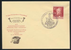 Berlin Brief 95 20 Pfg Männer der Geschichte Siemens Erfinder FDC Kat.Wert 30,00