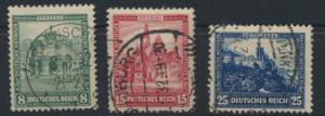 Deutsches Reich Nothilfe Bauwerke 459-461 gestempelt Kat.-Wert 46,00