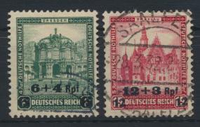 Deutsches Reich 463-464 Nothilfe Bauwerke gestempelt MNH Kat.-Wert 28,00