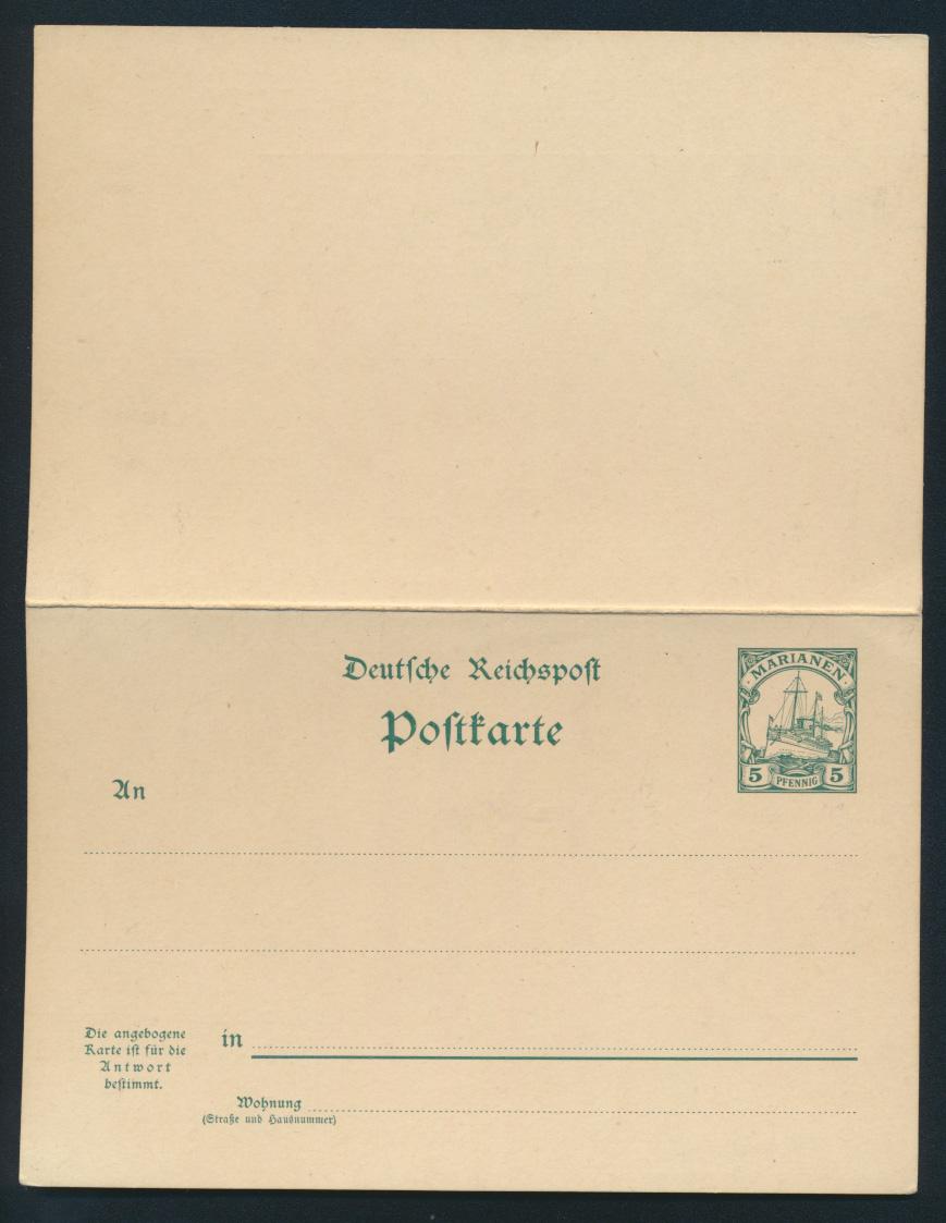Deutsche Kolonien Togo Ganzsache P 10 Schiffszeichnung ungebraucht Ausgabe 1901 0