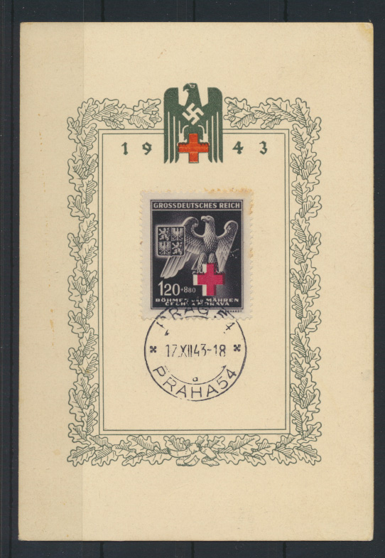 Böhmen und Mähren 132 Propagandakarte Rotes Kreuz auf Sonderkarte 0