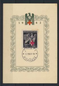 Böhmen und Mähren 132 Propagandakarte Rotes Kreuz auf Sonderkarte