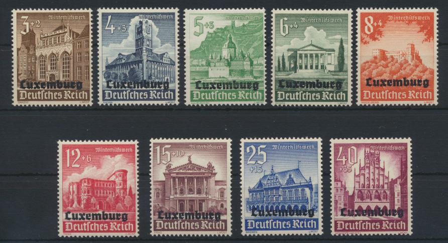 Besetzung Luxemburg 33-41 Luxus postfrisch MNH Kat.-Wert 10,00 0