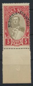 Albanien 197 Unterrand Verfassung Luxus Postfrisch Albania MNH Kat.-Wert 15,00
