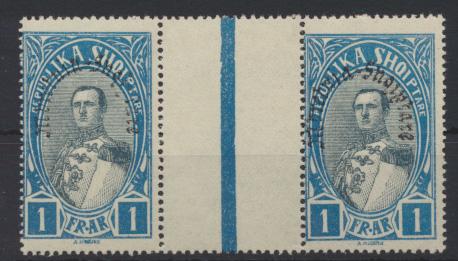 Albanien 195 Paar mit Zwischensteg Verfassung Luxus postfrisch Albania MNH 8,00 0