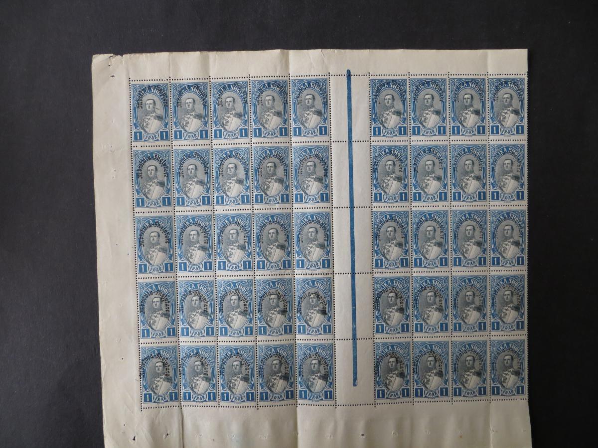 Albanien 195 Verfassung Bogenteil 45 Stück postfrisch Albania Kat.-Wert 180 0