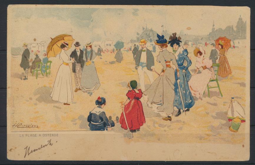 Ansichtsakarte Jugendstil Art Nouveau Künstler handcoloriert Ostende Amersfoort 0