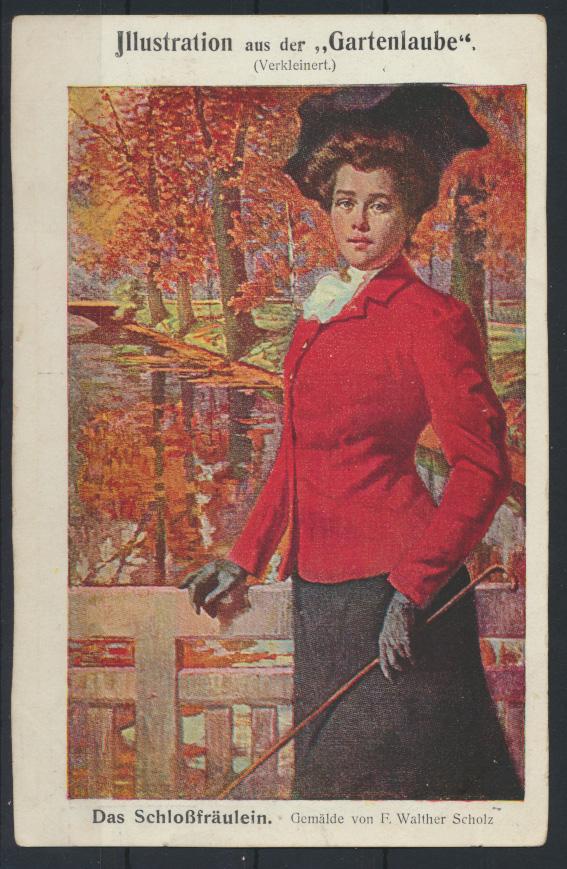 Ansichtskarte Jugendstil Art Nouveau Gartenlaube Künstler Bahnpost Vohwinkel  0