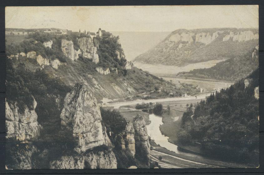 Ansichtsakarte Werenwag Donau ab Beuron nach Ravensberg  0
