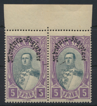 Albanien 198 im Paar Oberrand Luxus postfrisch MNH 1928 Kat.-Wert 30,00 € 0