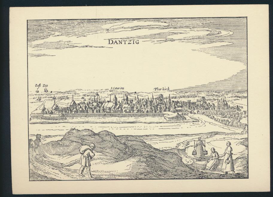 Ansichtskarte Danzig nach einer Radierung aus P. Bertius von 1616 0