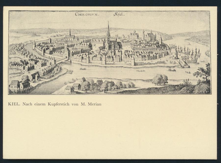 Ansichtskarte Kiel nach einem Kupferstich von M. Merian 0