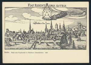 Ansichtskarte Stettin nach dem Kupferstich in Meißners Schatzkästlein 1625