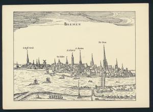 Ansichtskarte Bremen nach einer Radierung aus Bertius 1616