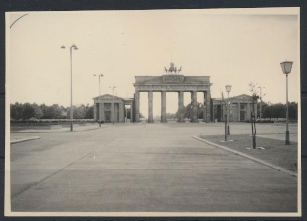 Altes Foto Berlin Brandenburger Tor 10,1 x 7,1 cm 0