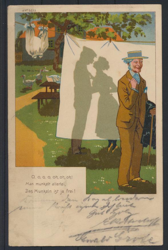Ansichtskarte Jugendstil Art Nouveau Künstler Humor Bremerhaven Gevelsberg 1899 0