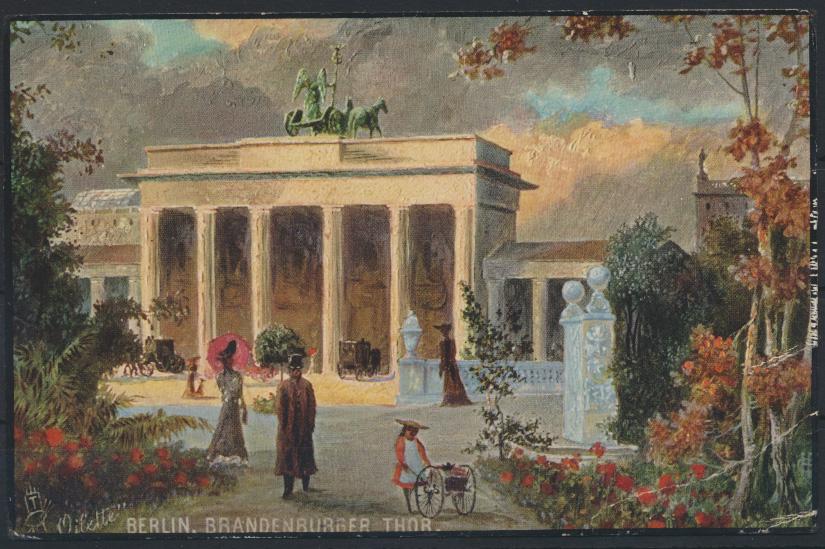Ansichtskarte Berlin Künstler Oilette Tucks Brandenburger Tor tolle selt. Karte  0