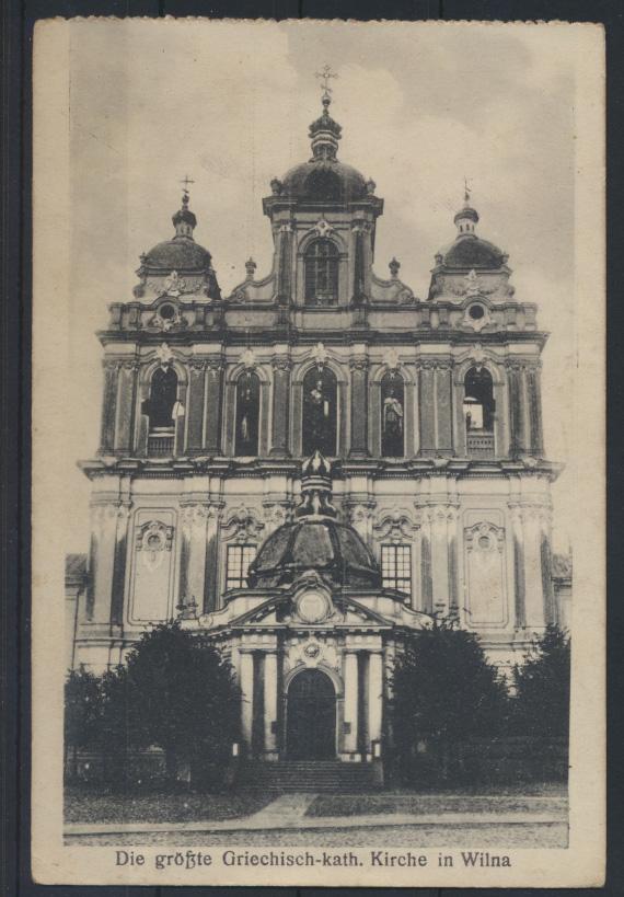 Ansichtskarte Wilna Litauen Griechisch Katholische Kirche Feldpost 1917 0