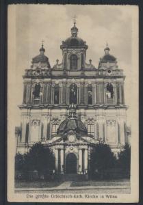Ansichtskarte Wilna Litauen Griechisch Katholische Kirche Feldpost 1917