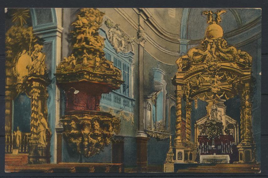 Ansichtskarte Mariaschein Bohosudov Krupka Tschechien Wallfahrtskirche innen 0