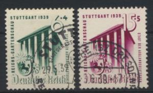 Deutsches Reich 692-693 Reichsgartenschau Stuttgart gestempelt Kat-Wert 9,00